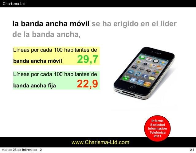 #Charisma-Ltd www.Charisma-Ltd.com la banda ancha móvil se ha erigido en el líder de la banda ancha, Líneas por cada 100 h...
