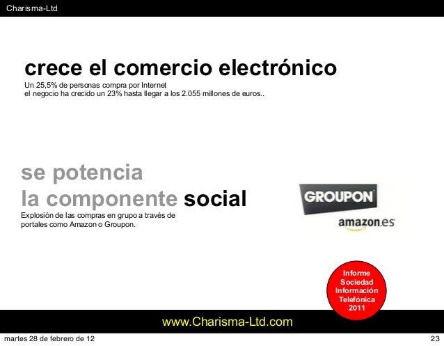 #Charisma-Ltd www.Charisma-Ltd.com crece el comercio electrónico Un 25,5% de personas compra por Internet el negocio ha cr...