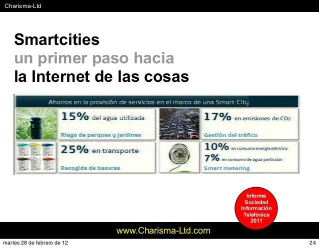 #Charisma-Ltd www.Charisma-Ltd.com Smartcities un primer paso hacia la Internet de las cosas Informe Sociedad Información ...