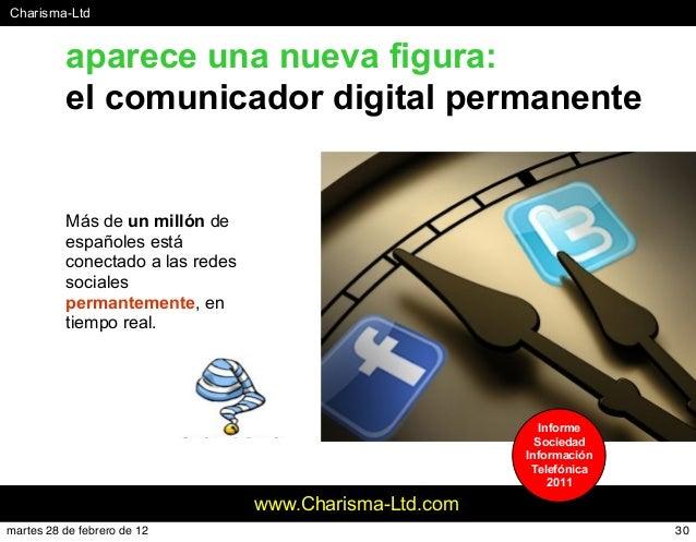 #Charisma-Ltd www.Charisma-Ltd.com aparece una nueva figura: el comunicador digital permanente Más de un millón de español...
