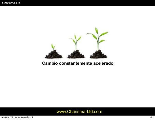 #Charisma-Ltd www.Charisma-Ltd.com Cambio constantemente acelerado 41martes 28 de febrero de 12