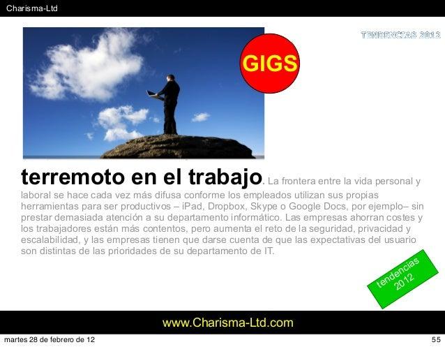 #Charisma-Ltd www.Charisma-Ltd.com terremoto en el trabajo. La frontera entre la vida personal y laboral se hace cada vez ...