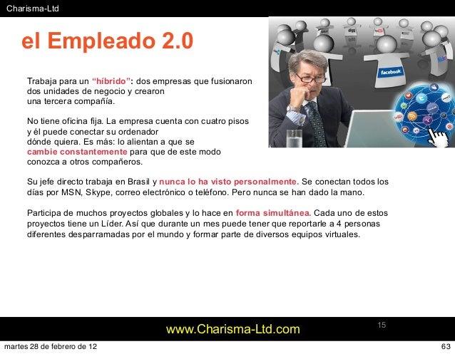 """#Charisma-Ltd www.Charisma-Ltd.com 15 Trabaja para un """"híbrido"""": dos empresas que fusionaron dos unidades de negocio y cre..."""