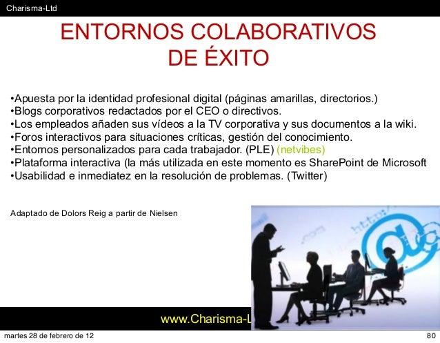 #Charisma-Ltd www.Charisma-Ltd.com 80 •Apuesta por la identidad profesional digital (páginas amarillas, directorios.) •Blo...