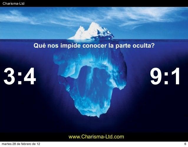 #Charisma-Ltd www.Charisma-Ltd.com Qué nos impide conocer la parte oculta? 3:4 9:1 6martes 28 de febrero de 12