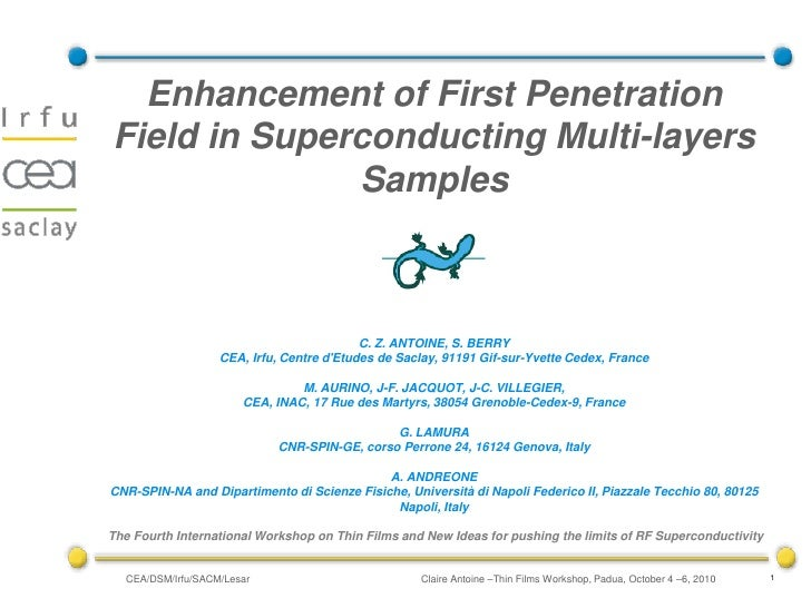 Enhancement of First Penetration Field in Superconducting Multi-layers               Samples                              ...