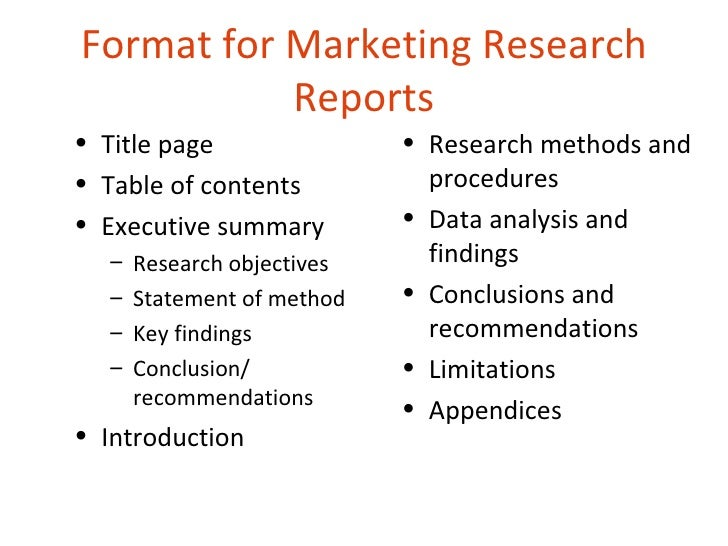 Market research report template sample | Great presentation ...