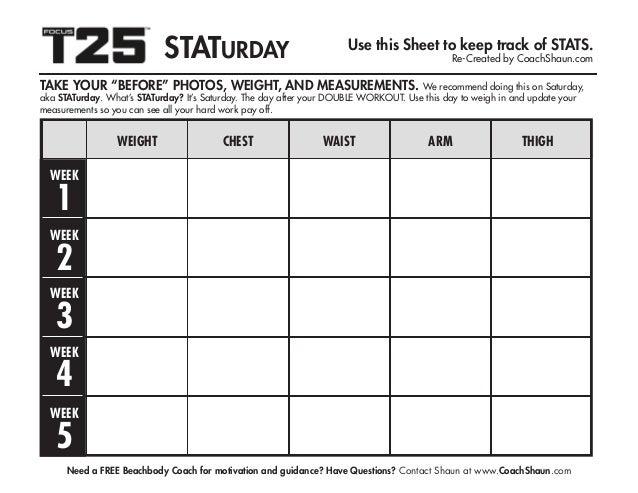 graphic regarding T25 Printable Calendar titled T25 calendar
