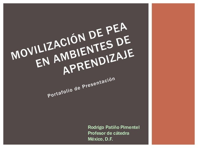 Rodrigo Patiño Pimentel  Profesor de cátedra  México, D.F.