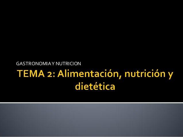 GASTRONOMIAY NUTRICION