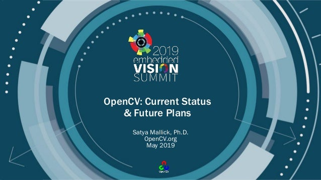 © 2019 OpenCV.org OpenCV: Current Status & Future Plans Satya Mallick, Ph.D. OpenCV.org May 2019