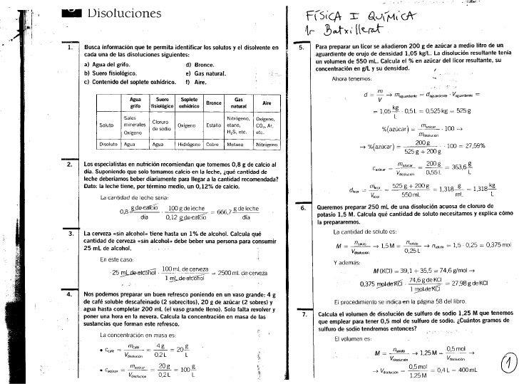 DisolucionesBusca información que te permita identificar los solutos y el disolvente en                                   ...