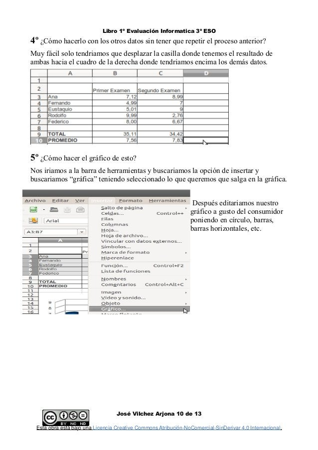 Libro 1º Evaluación Informatica 3º ESO 4º ¿Cómo hacerlo con los otros datos sin tener que repetir el proceso anterior? Muy...