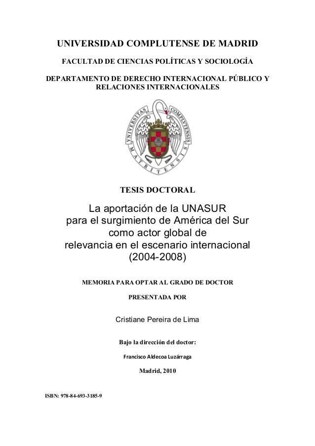 UNIVERSIDAD COMPLUTENSE DE MADRID FACULTAD DE CIENCIAS POLÍTICAS Y SOCIOLOGÍA DEPARTAMENTO DE DERECHO INTERNACIONAL PÚBLIC...