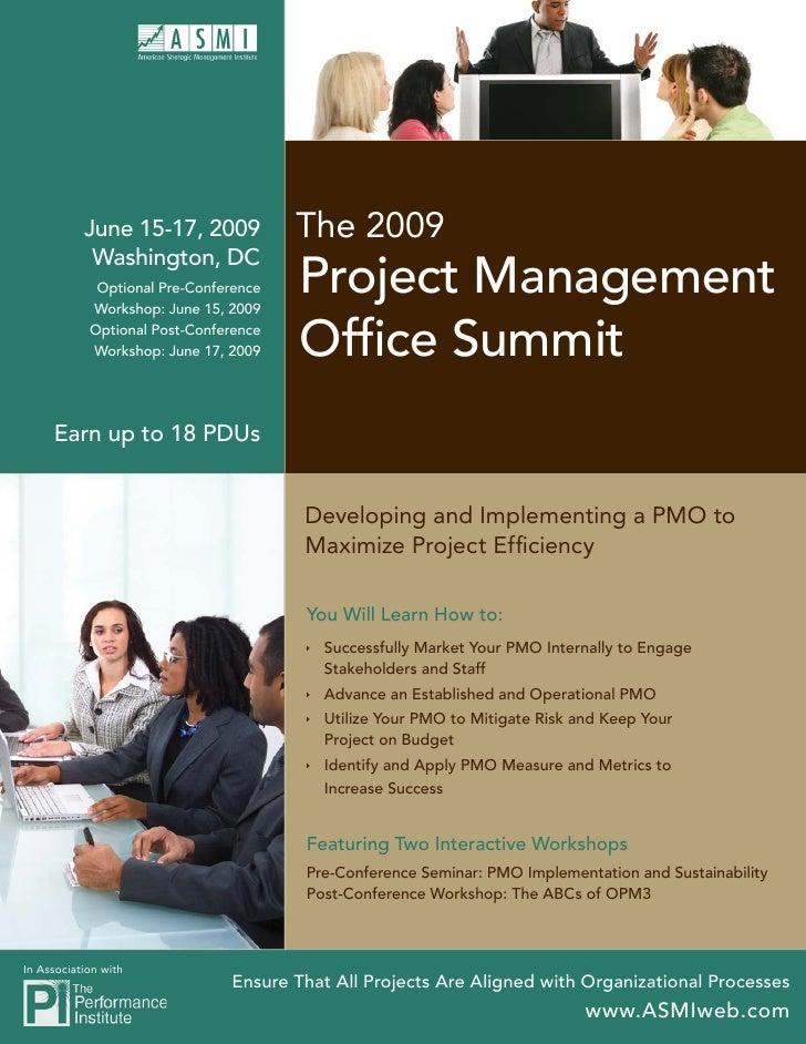 The 2009            June 15-17, 2009             Washington, DC                                        Project Management ...