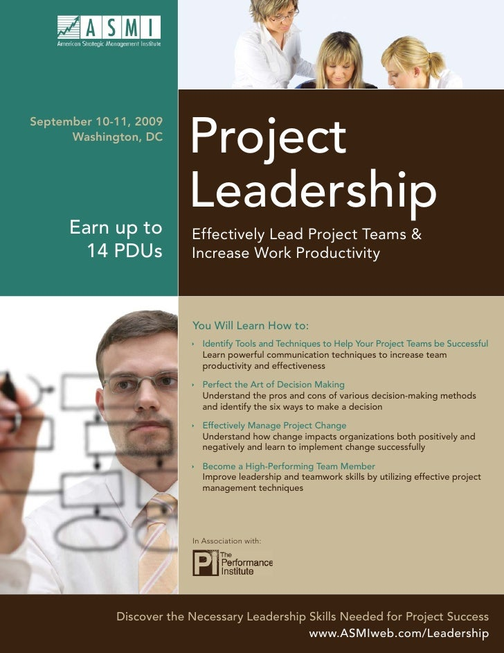 Project September 10-11, 2009       Washington, DC                              Leadership       Earn up to          Effec...