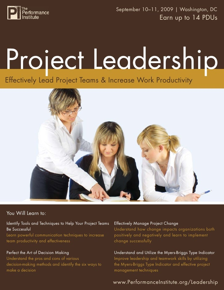 Project Leadership 10–11, 2009 | Washington, DC                                                         September         ...
