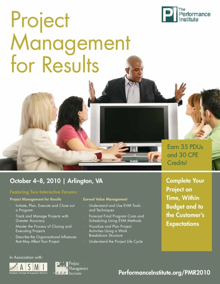 Project Project Management for Results     Management for Results                                                         ...