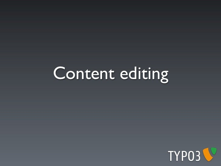 Input action UI   Action   Type   Context                           TYPO3