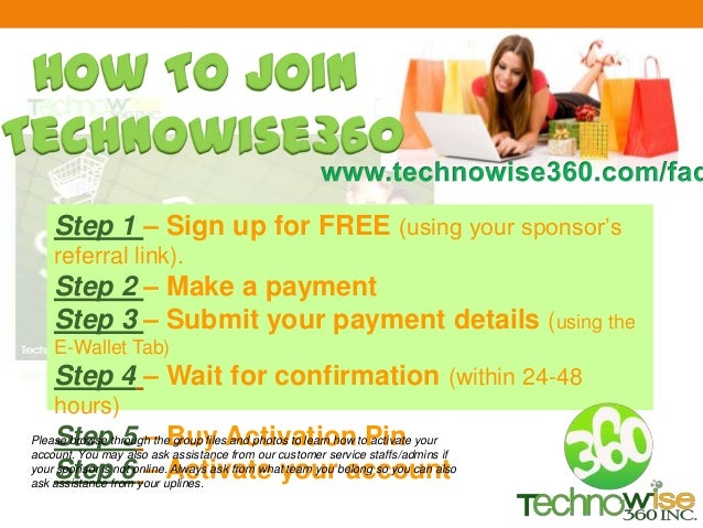 Step 1 – Sign up for FREE (using your sponsor's referral link). Step 2 – Make a payment Step 3 – Submit your payment detai...