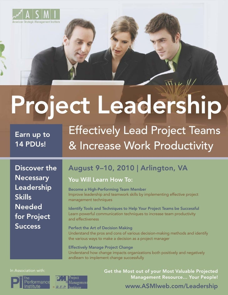 Project Leadership   Earn up to               Effectively Lead Project Teams   14 PDUs!                 & Increase Work Pr...