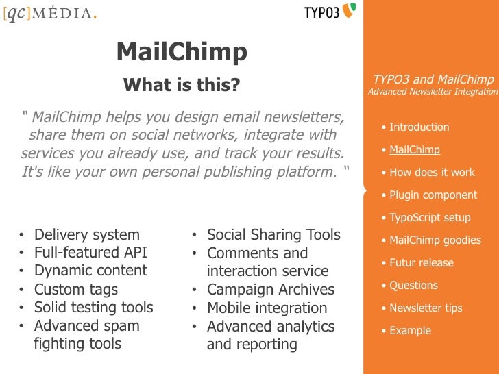 TYPO3 and MailChimp : Advanced newsletter integration