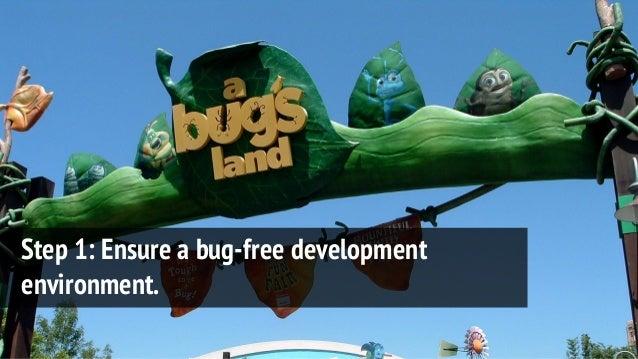 Step 1: Ensure a bug-free development environment.