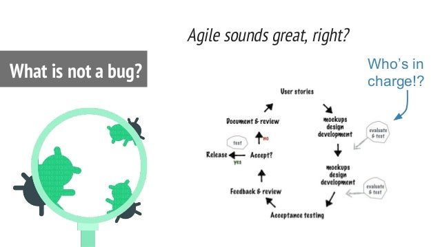 Agile sounds great, right? What is not a bug? Who's in charge!?