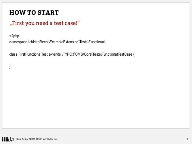 Functional tests with TYPO3 Slide 3
