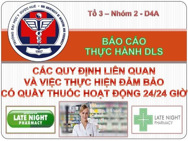 Các quy định liên quan đến việc đảm bảo có quầy thuốc hoạt động 24/24 giờ tại Việt Nam và nước ngoài Thực tại của việc đảm...