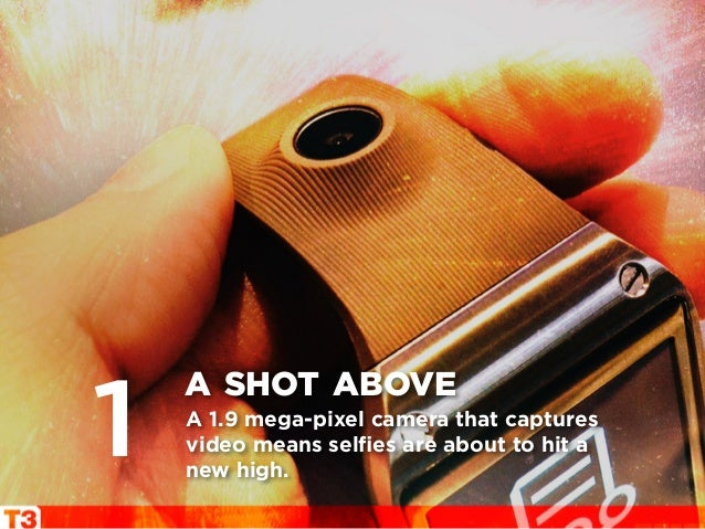 A 1.9 mega-pixel camera that captures video means selfies are about to hit a new high. a shot above 1