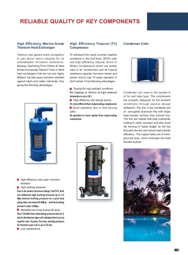 T3 Swimming Pool Heat Pump Brochure Blueway