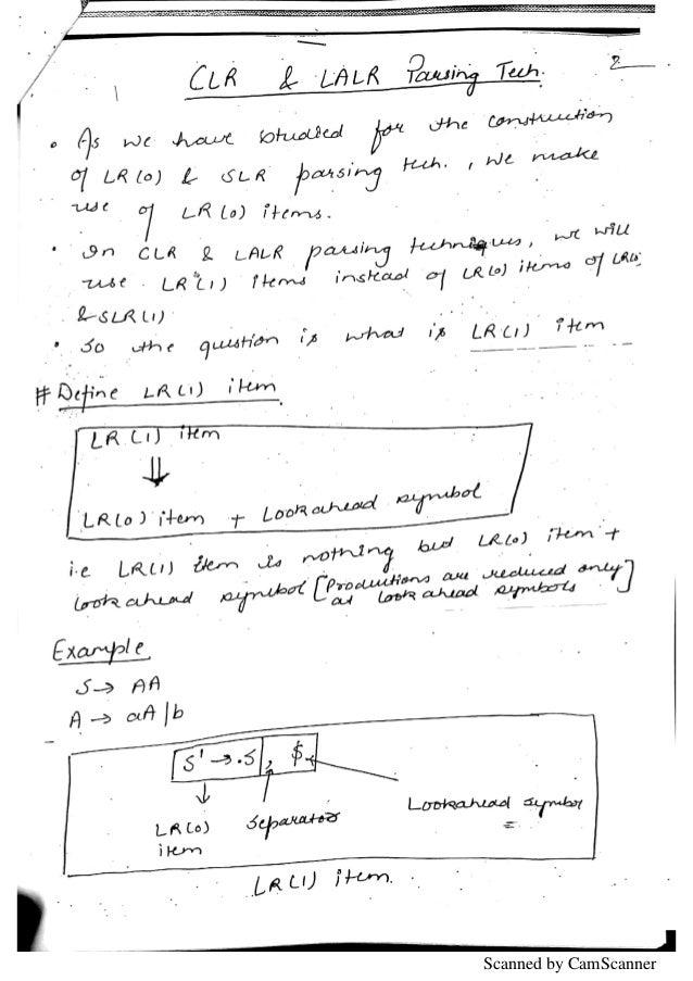 Compiler Design IPU notes Handwritten