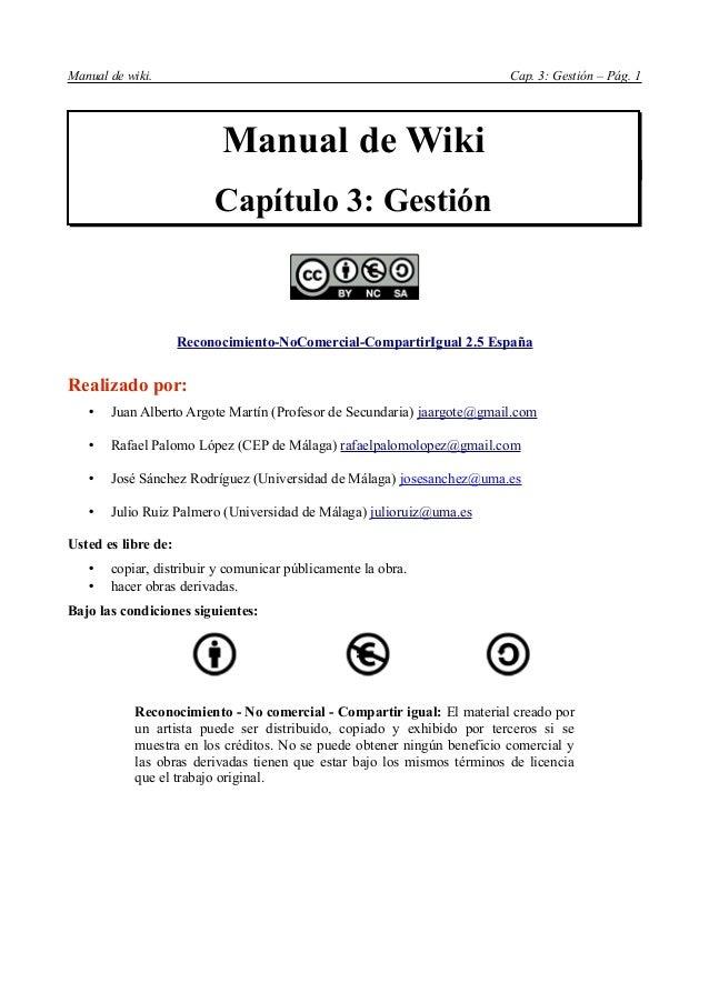 Manual de wiki.                                                          Cap. 3: Gestión – Pág. 1                         ...