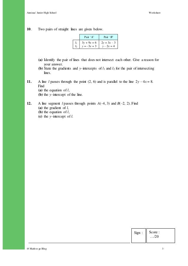 w4 Linear Equation