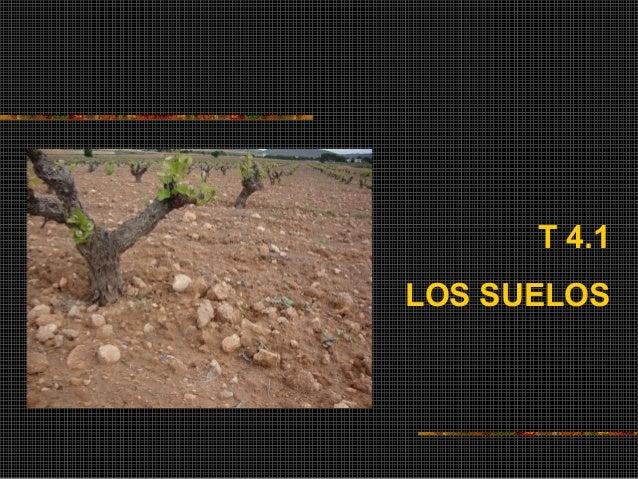 T 4.1  LOS SUELOS