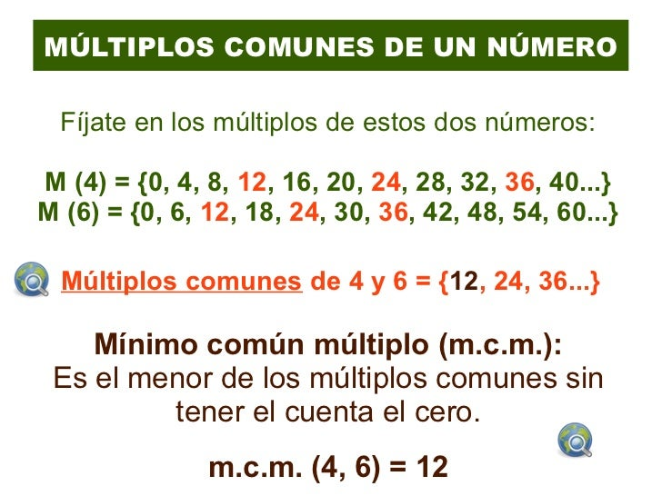 T4 multiplos y divisores for Multiples de 6