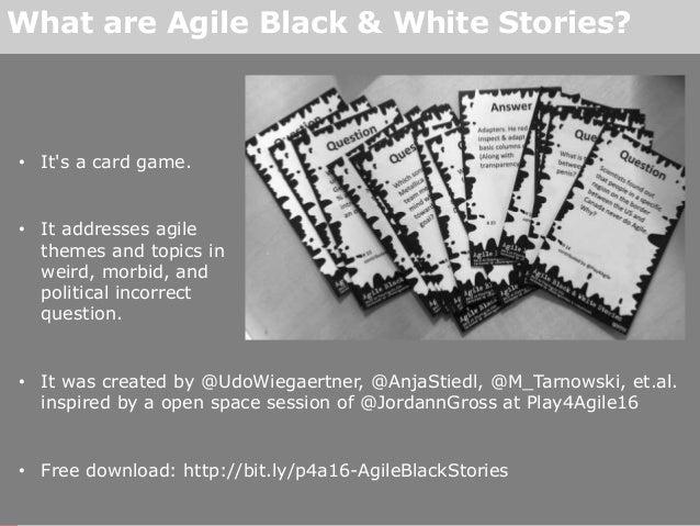Agile Black & White Stories Slide 2