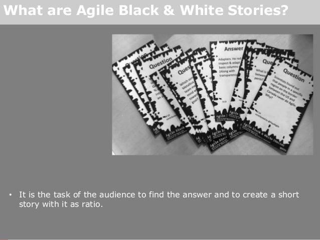 Agile Black & White Stories Slide 3