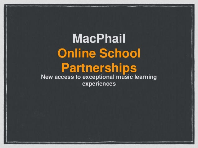 MacPhail Online School Partnerships  New access to exceptional music learning experiences