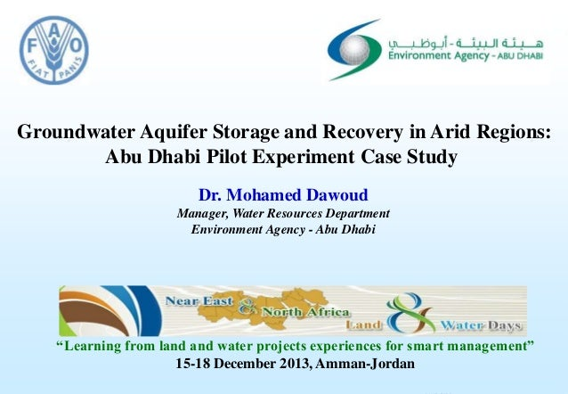 Consultancy Services for Artificial Recharge and Utilisation of the Groundwater Resource in the1 Groundwater Aquifer Stora...