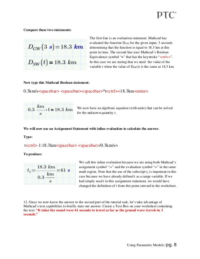 Parametric Equations with Mathcad Prime – Parametric Equations Worksheet