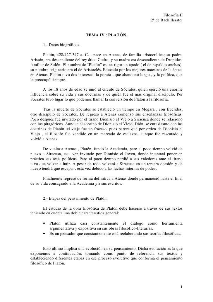 Filosofía II                                                                       2º de Bachillerato.                    ...