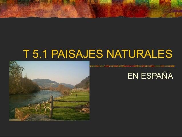T 5.1 PAISAJES NATURALES EN ESPAÑA