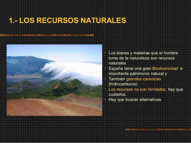 RECURSOS NATURALES Y MEDIO AMBIENTE Slide 3
