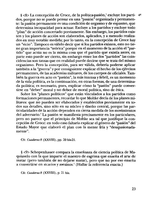 5 c10>La cuestión inicial a plantear yresolver en un tratado sobre Ma- quiavelo es la cuestión de la política como ciencia...