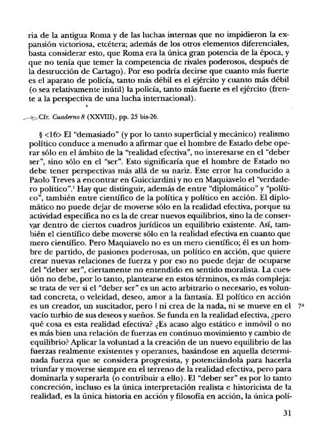 tica. La oposición Savonarola-Maquiavelono es la oposición entre ser y deber ser (todo el párrafo de Russo sobre este punt...