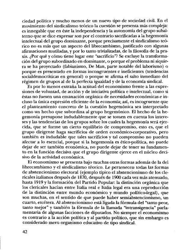Un punto de referencia para el estudio del economismo y para com- iia prender las relaciones entre estructura y superestru...