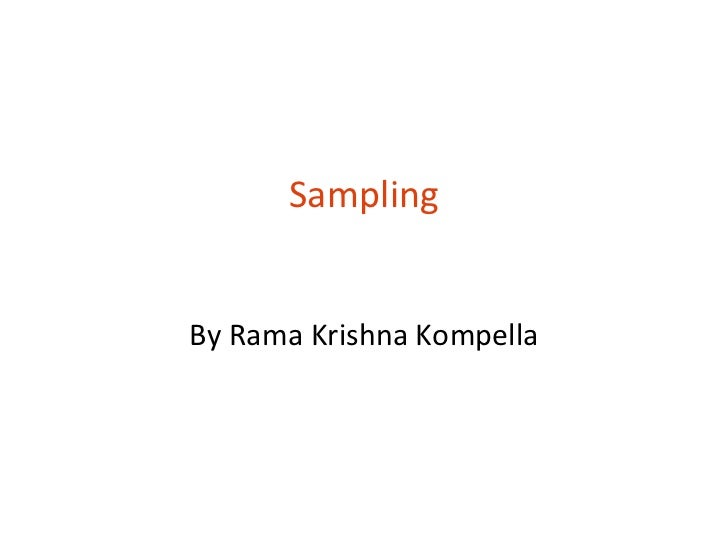 SamplingBy Rama Krishna Kompella