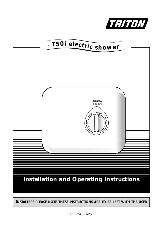 INSTALLERS PLEASE NOTE THESE INSTRUCTIONS ARE TO BE LEFT WITH THE USER Installation and Operating Instructions 2180154H Ma...